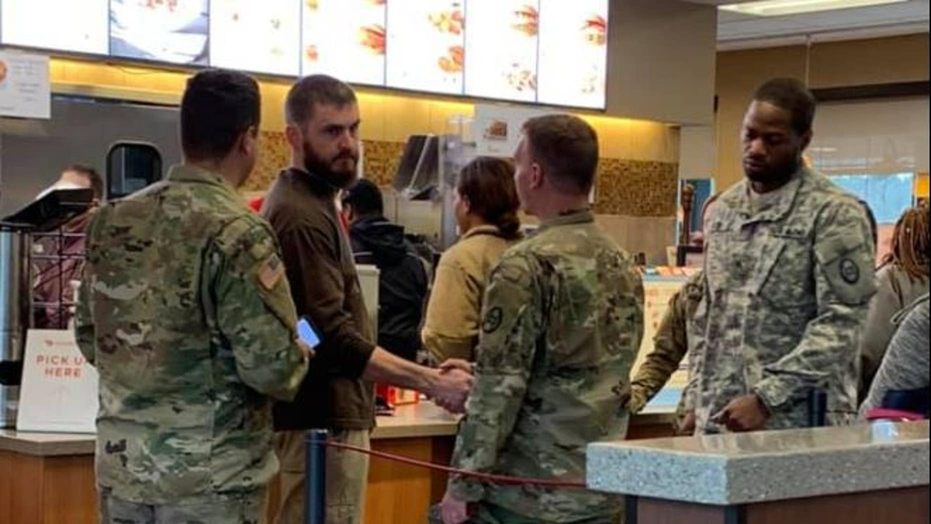 JonathanFull bought Chick-fil-A for a group of service members in North Carolina over the weekend.