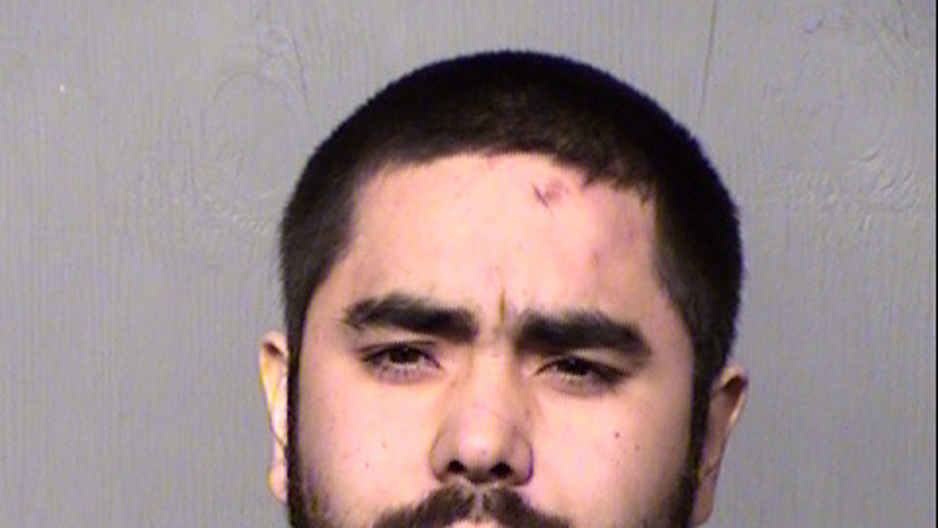 Fernando Acosta, 25, was arrested Friday, charged in connection with the stabbing death of a female passenger after a car crash, authorities say.