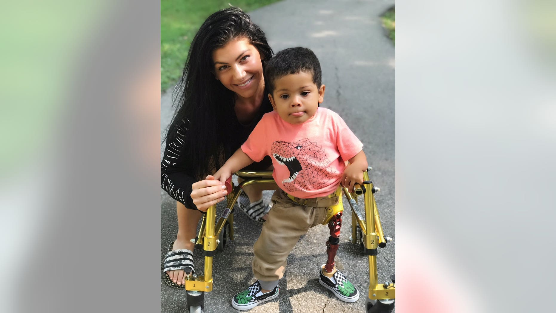 """The theft was so upsetting,"" said Josiah's mother Brie, 30. ""He relies on the prosthetic for his independence and mobility and to take that away from somebody is just crappy."""
