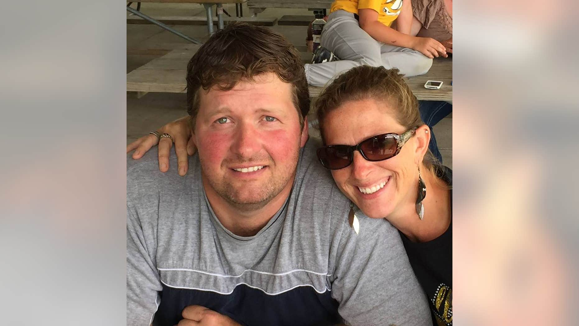 Todd Mullis and Amy Mullis in a September 2016 photograph posted on social media.