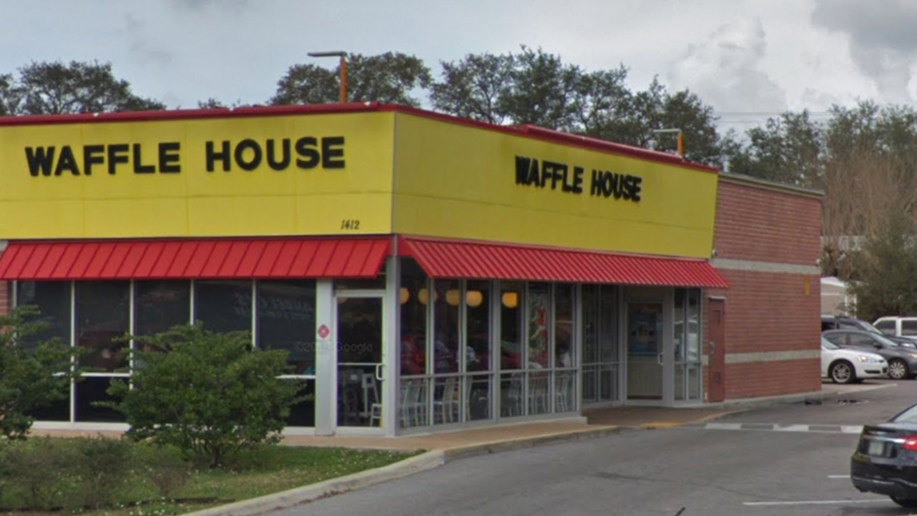 The Waffle House where the accident occurred.