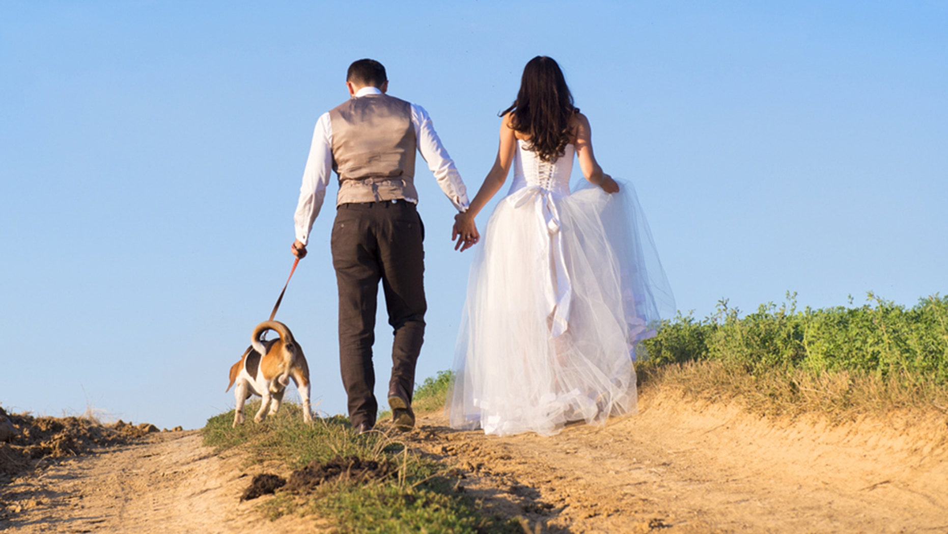 A couple wanted to include their dog (not pictured) in their special day in a unique way.