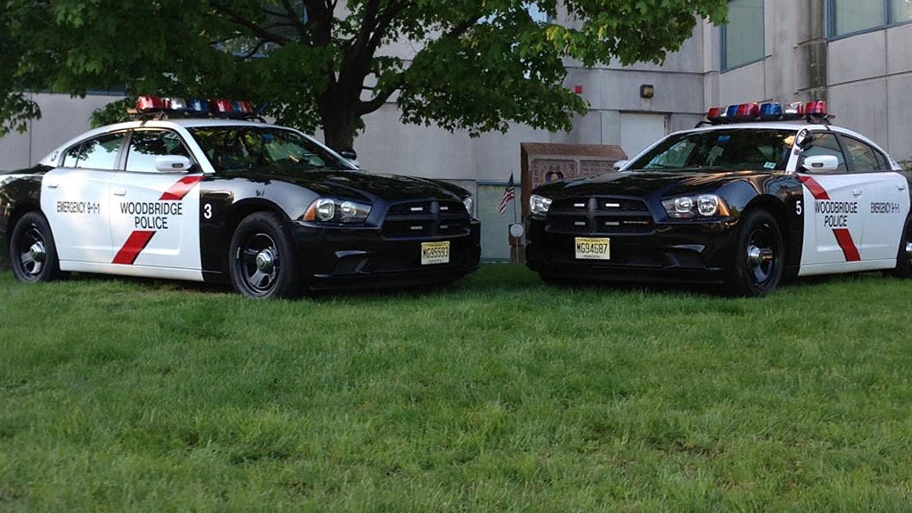 "Woodbridge Police Officer Khari Manzini helped reunite Ryan with his teddy, ""Freddy."""