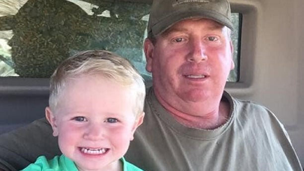 James Wilke and his grandson Brecken. Wilkes died attempting to rescue a stranger from the floods in Nebraska.
