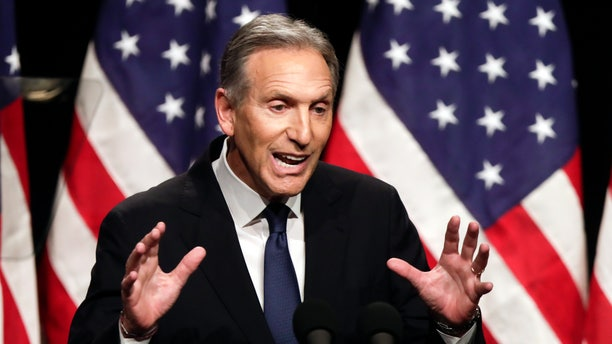 FILE - In this Feb. 7, 2019, file photo, former Starbucks CEO Howard Schultz speaks at Purdue University in West Lafayette, Ind. (AP Photo/Michael Conroy, File)