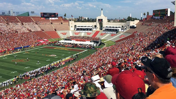 United Airlines offered Friday, March 29, 2019, to withdraw from a $69 million deal to change Los Angeles Memorial Coliseum into United Airlines Memorial Coliseum following criticism that adding a corporate name is disrespectful to the facility's history of honoring troops who fought and died in World War I. (Associated Press)