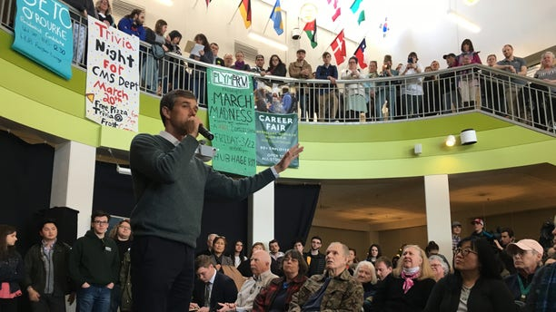 March 20, 2019: Beto O'Rourke speaks atPlymouth State University in New Hampshire.