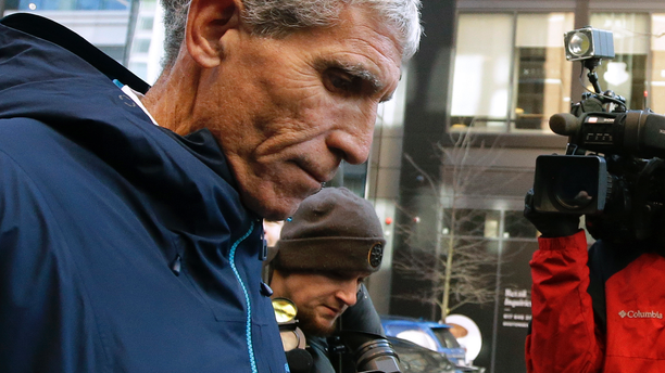 """William """"Rick"""" Singer founder of the Edge College & Career Network, departs federal court in Boston on Tuesday after he pleaded guilty to charges in a nationwide college admissions bribery scandal. (AP)"""