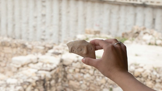 The fragment is from the time of Persian rule over the ancient Kingdom of Judah. (Eliyahu Yanai, City of David)