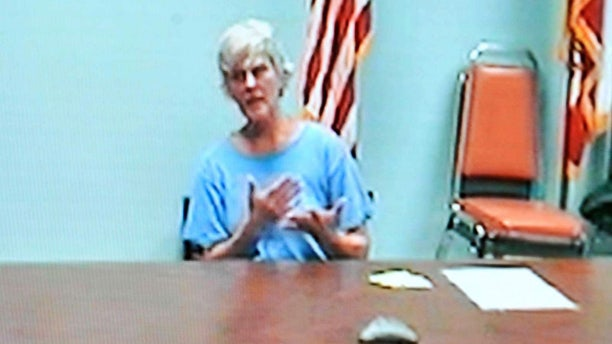 Diane Downs testifies before an Oregon parole board on Dec. 10, 2010, which unanimously ruled that she remained dangerous and must stay in prison. The board also ruled Downs ineligible for further parole consideration for 10 years.