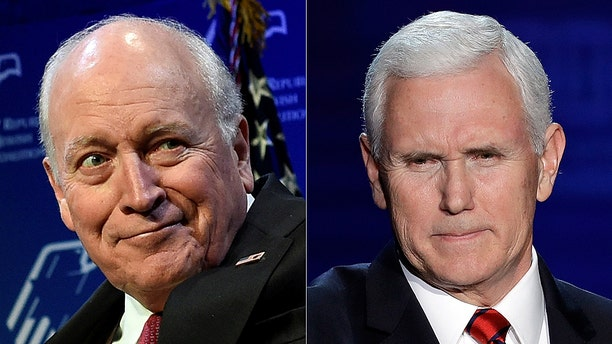Former Vice President Dick Cheney grilled Vice President Mike Pence on the Trump administration's foreign policy. (AP)