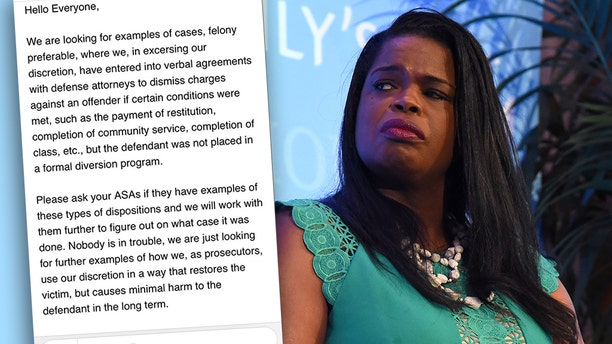 An internal email from Kim Foxx's office obtained by Fox News asked workers to dig for examples bolstering Foxx's claim that the dropped charges in the Jussie Smollett case weren't as uncommon or shocking as they seemed. (Getty, File)