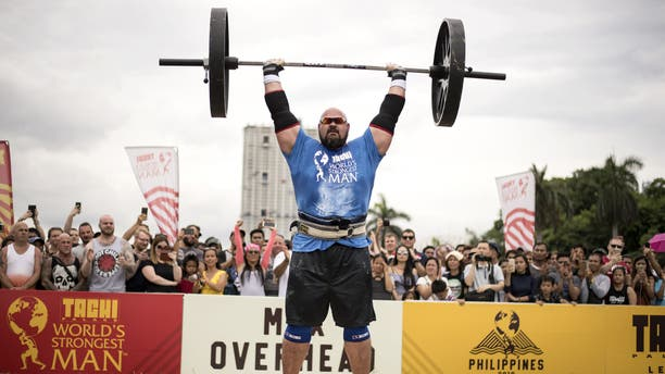 Brian Shaw during the Max Overhead competition of the 2018 Worlds Strongest Man in Manila on May 5, 2018.
