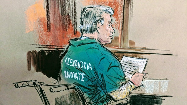 Manafort, who has been dealing with health issues, sits in his wheelchair in the courtroom.