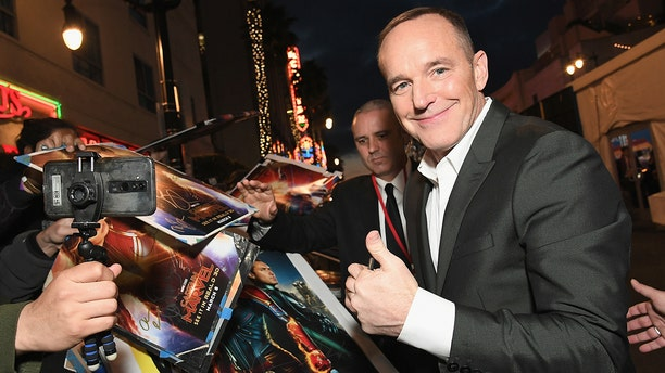 """Actor Clark Gregg attends the Los Angeles World Premiere of Marvel Studios' """"Captain Marvel"""" at Dolby Theatre on March 4, 2019 in Hollywood, Calif."""
