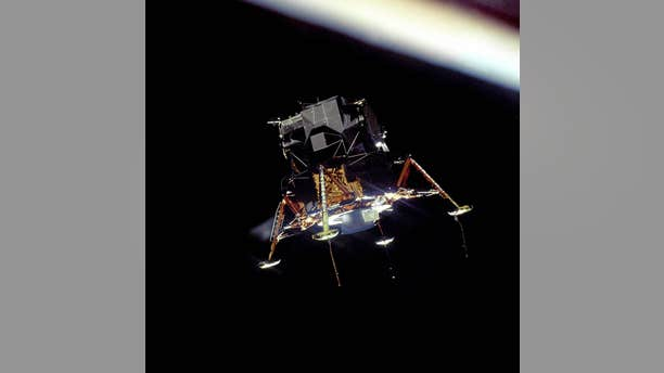File photo - The Apollo 11 Lunar Module Eagle, in a landing configuration, photographed from the Command and Service Module Columbia.(NASA)