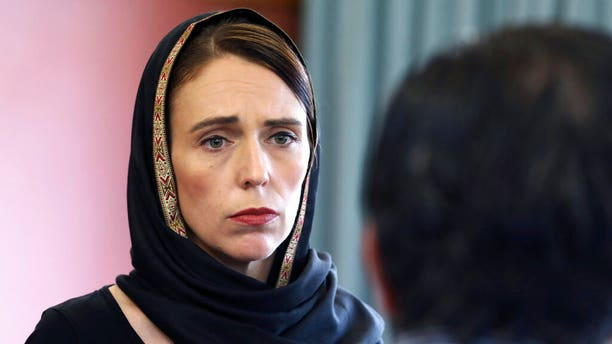 New Zealand Prime Minister Jacinda Ardern speaks to representatives of the Muslim community, at the Canterbury Refugee Centre in Christchurch, New Zealand, a day after the mass shootings at two mosques in the city.