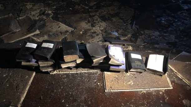 In the aftermath of a West Virginia church fire,firefighters say Bibles inside remained untouched by the flames.