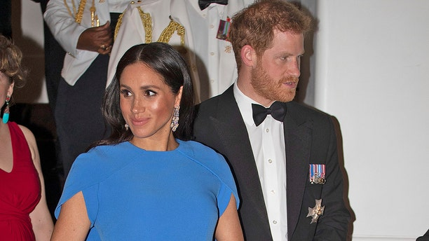 Meghan Markle and Prince Harry in Fiji in October 2018