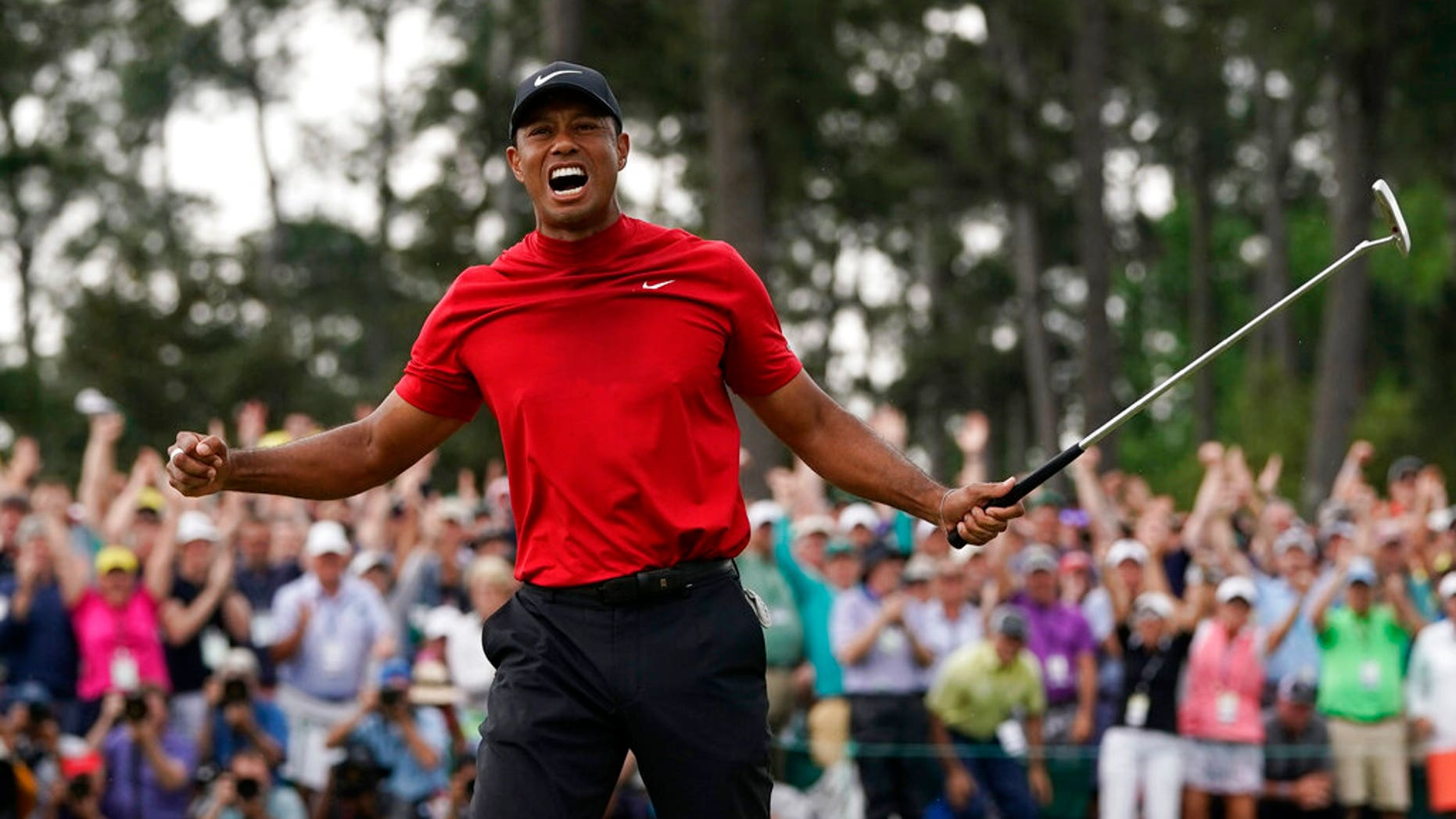 Tiger Woods on Sunday won his fifth Masters golf tournament.