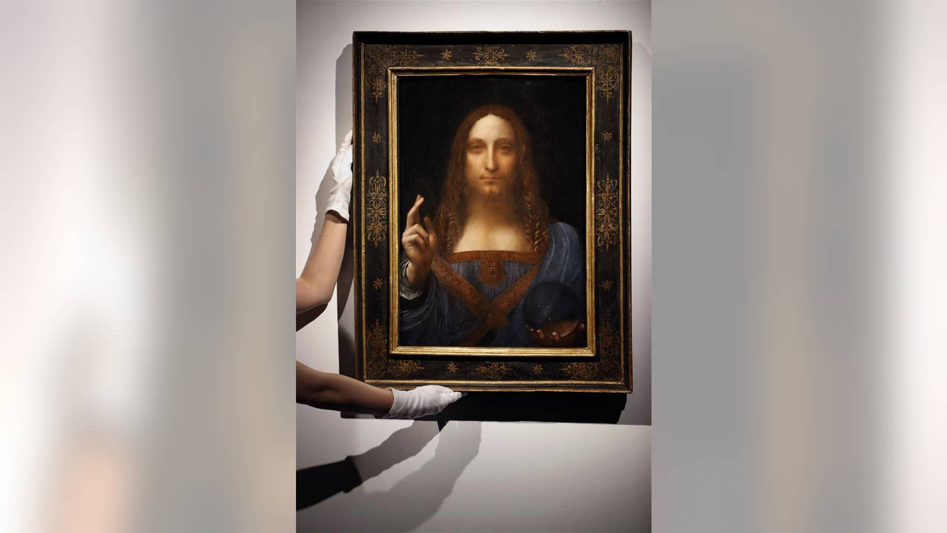 "A file photo of Leonardo da Vinci's ""Salvator Mundi,"" which is believed to be a likeness of da Vinci himself. It was used in the study."
