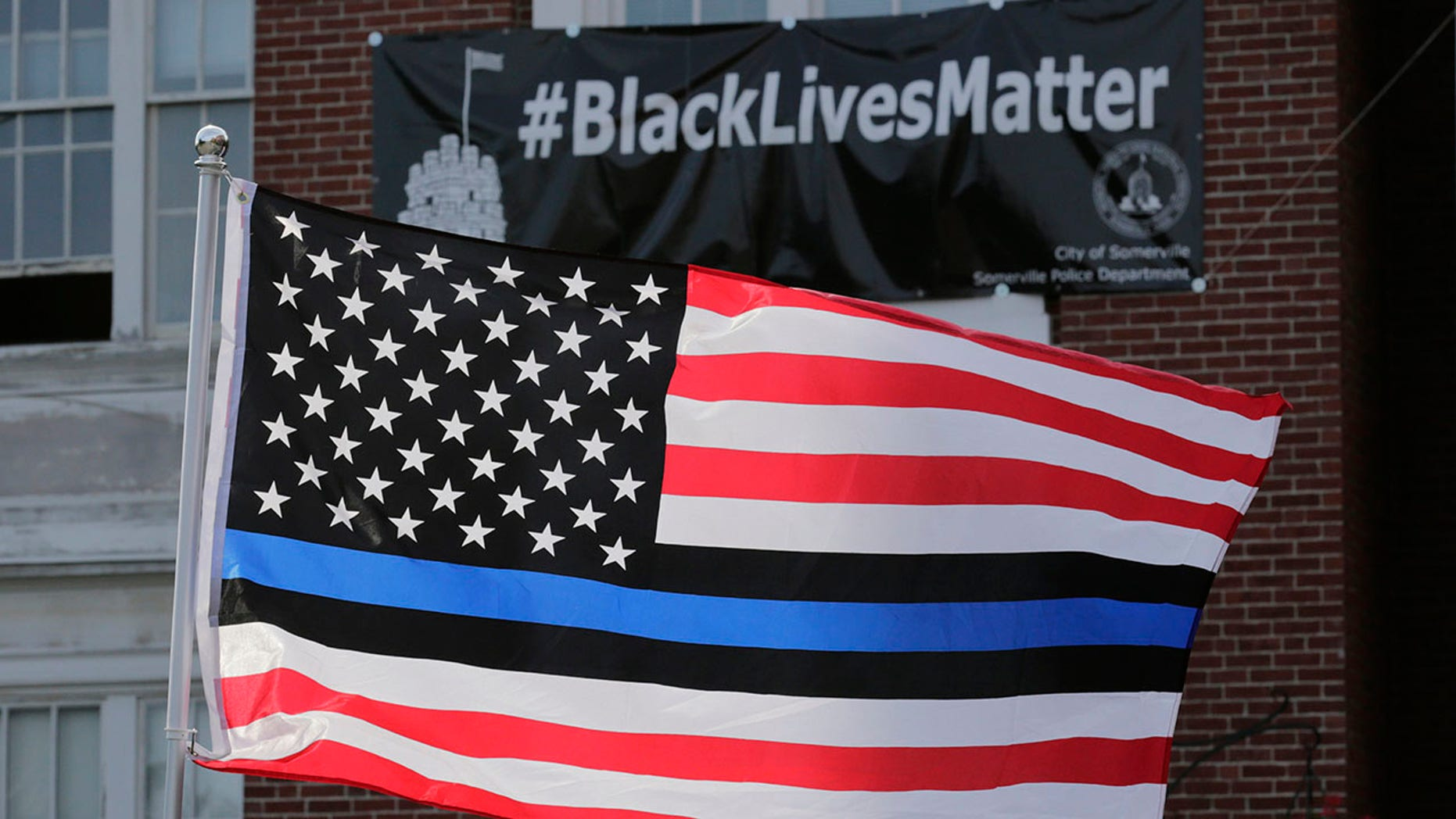 Westlake Legal Group AP19110614393227 Dispute over pro-police 'Blue Lives Matter' flag results in $100G settlement for county employee who sued fox-news/us/us-regions/west/oregon fox-news/us/crime/police-and-law-enforcement fox news fnc/us fnc Dom Calicchio article 18479d4f-6837-54a6-83bf-ff6fd40fd06e