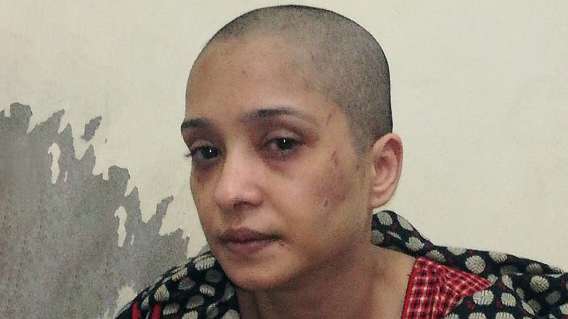 Asma Aziz, a Pakistani woman, accused her husband in a video she posted online of beating her and shaving her head after she refused to dance for him and his friends.
