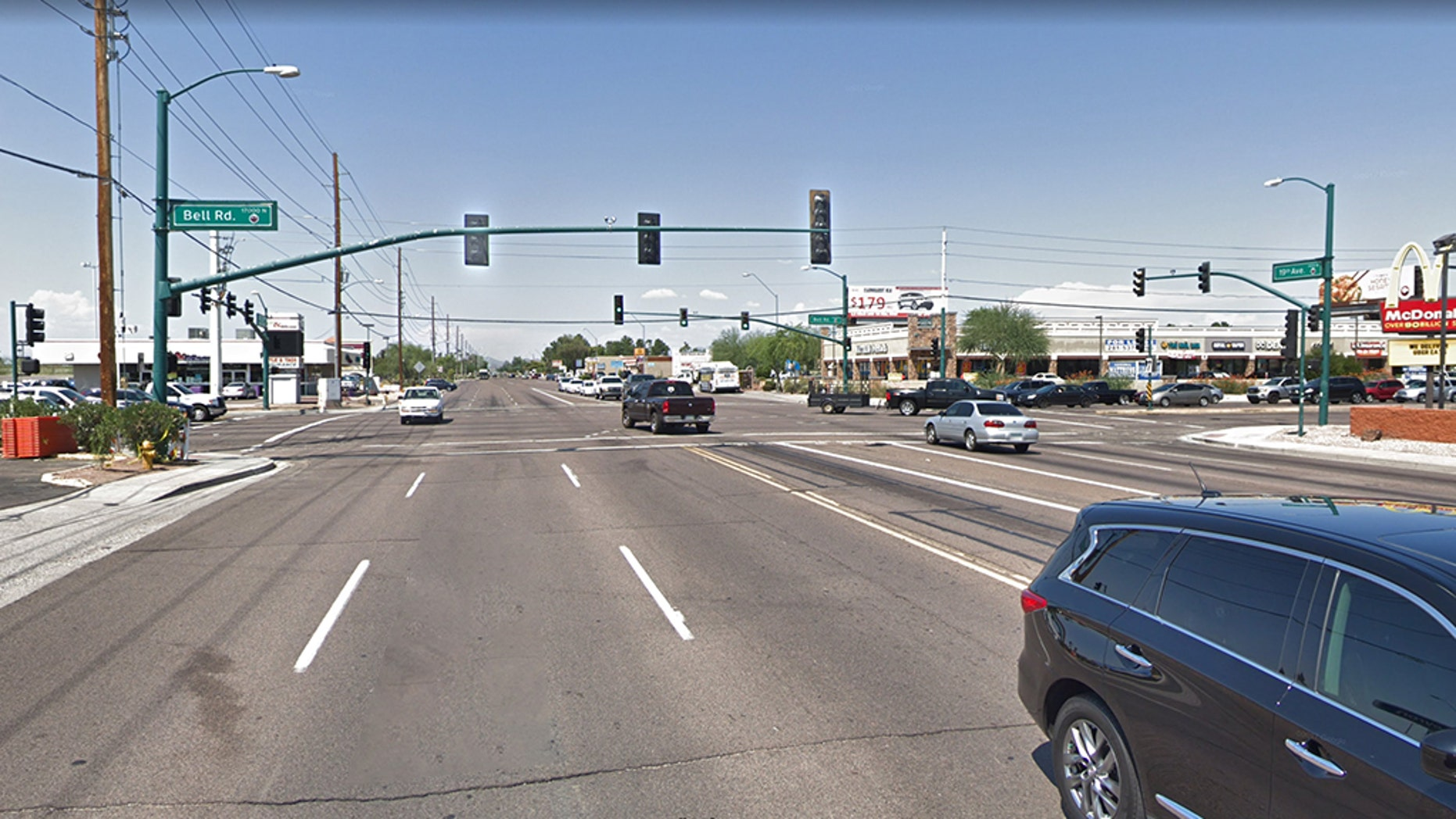 An alleged attempt to kidnap an 11-year-old Phoenix girl on the way to school near this intersection was scuttled when a witness intervened, police said.