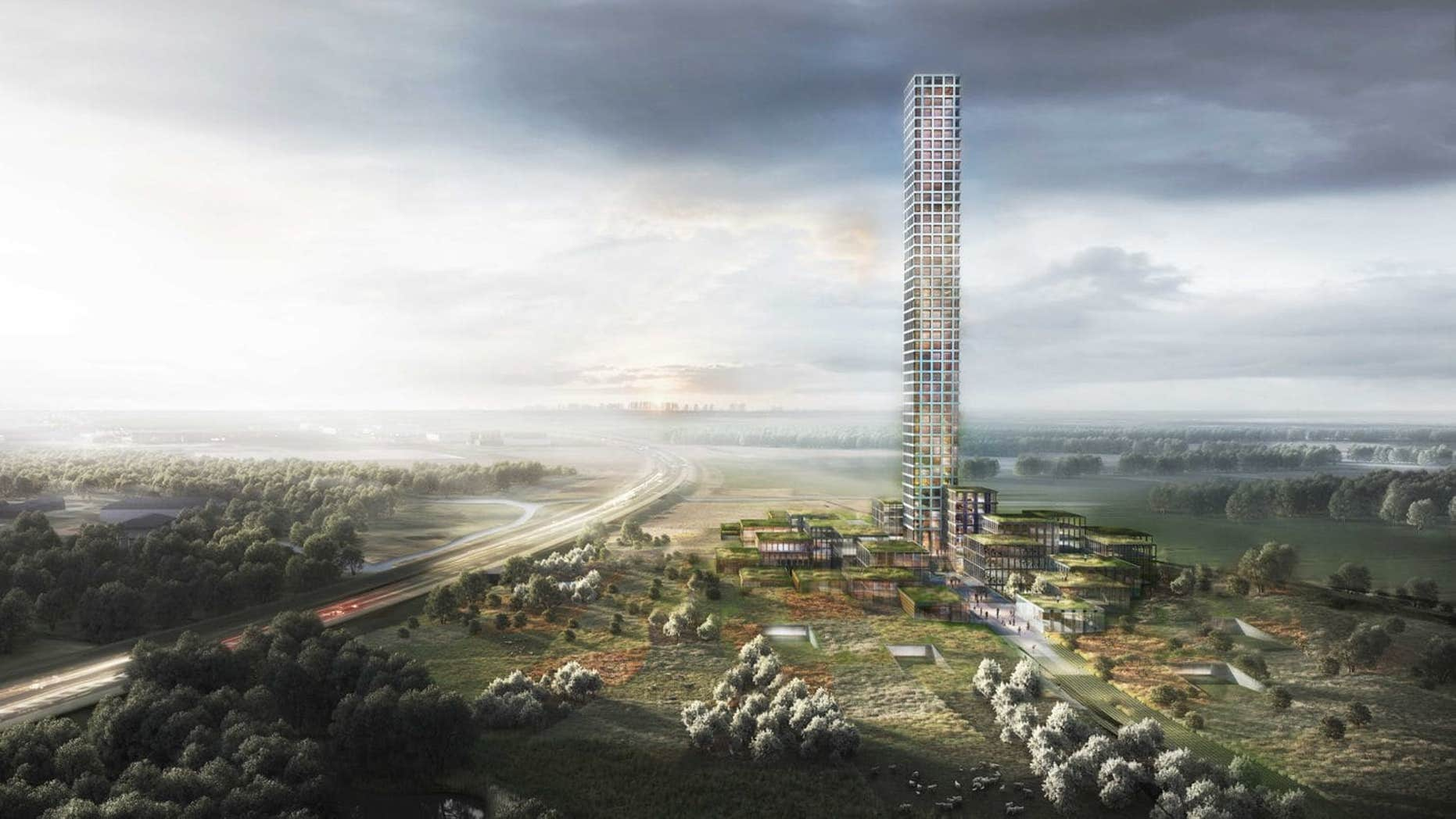 A plan to build Western Europe's tallest skyscraper in a rural Danish town of just 7,000 people has been given a green light by officials who welcome the over-the-top building.