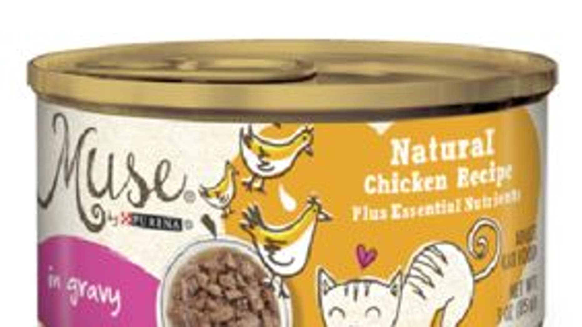 While Nestle Purina PetCare said no animals have been affected so far, it is advising consumers to throw out already purchased three-ounce cans of Muse wet cat food Natural Chicken Recipe in Gravy.