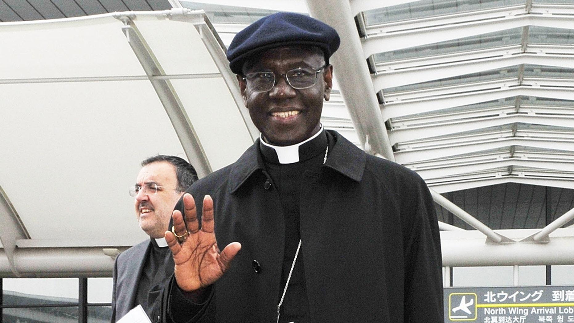 Cardinal Robert Sarah arrives at Narita International Airport on May 13, 2011 in Narita, Japan. (Photo by Jun Sato/Getty Images)