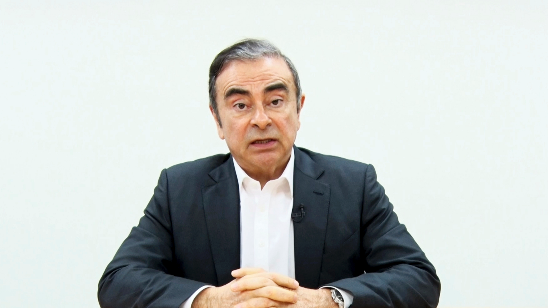 Carlos Ghosn Claims He's Conspiracy Victim Of