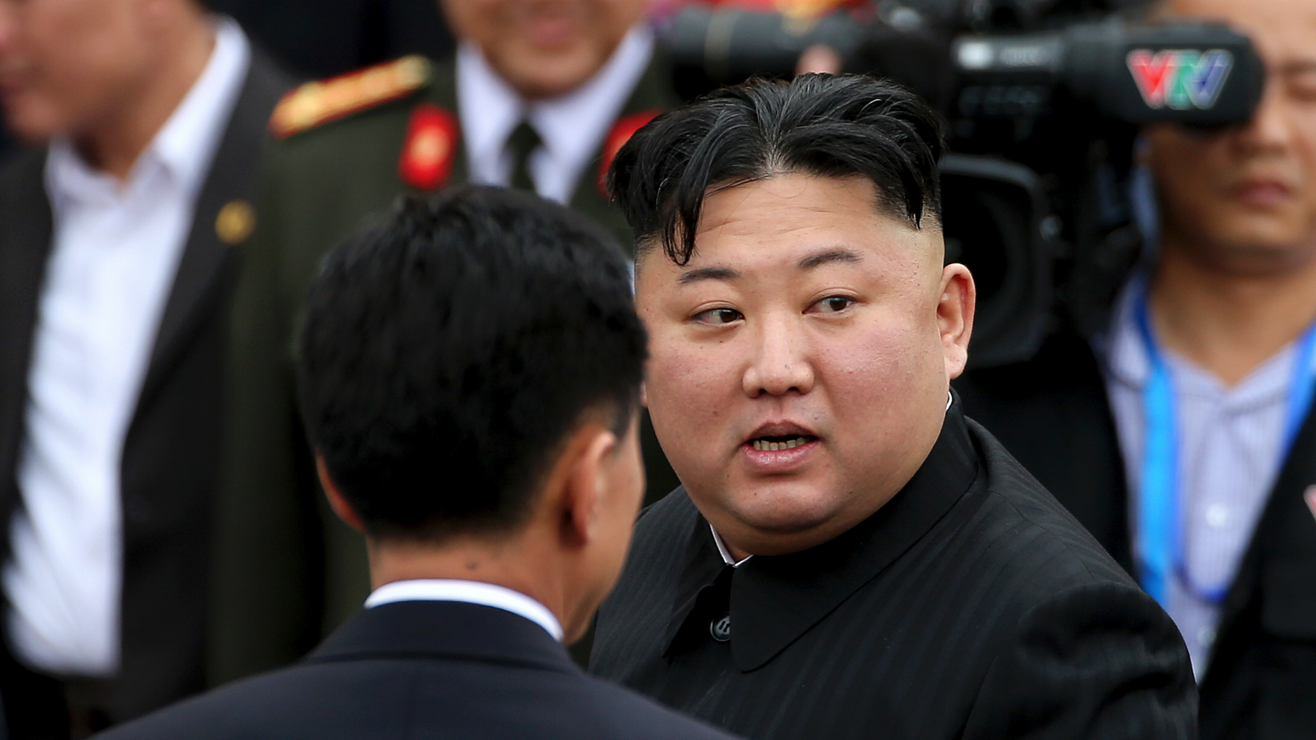 In this March 2, 2019, photo, North Korean leader Kim Jong Un prepares to depart Dong Dang railway station in Dong Dang, Vietnamese border town. North Korea on Tuesday, April 23, confirmed that Kim will soon visit Russia to meet with President Vladimir Putin.