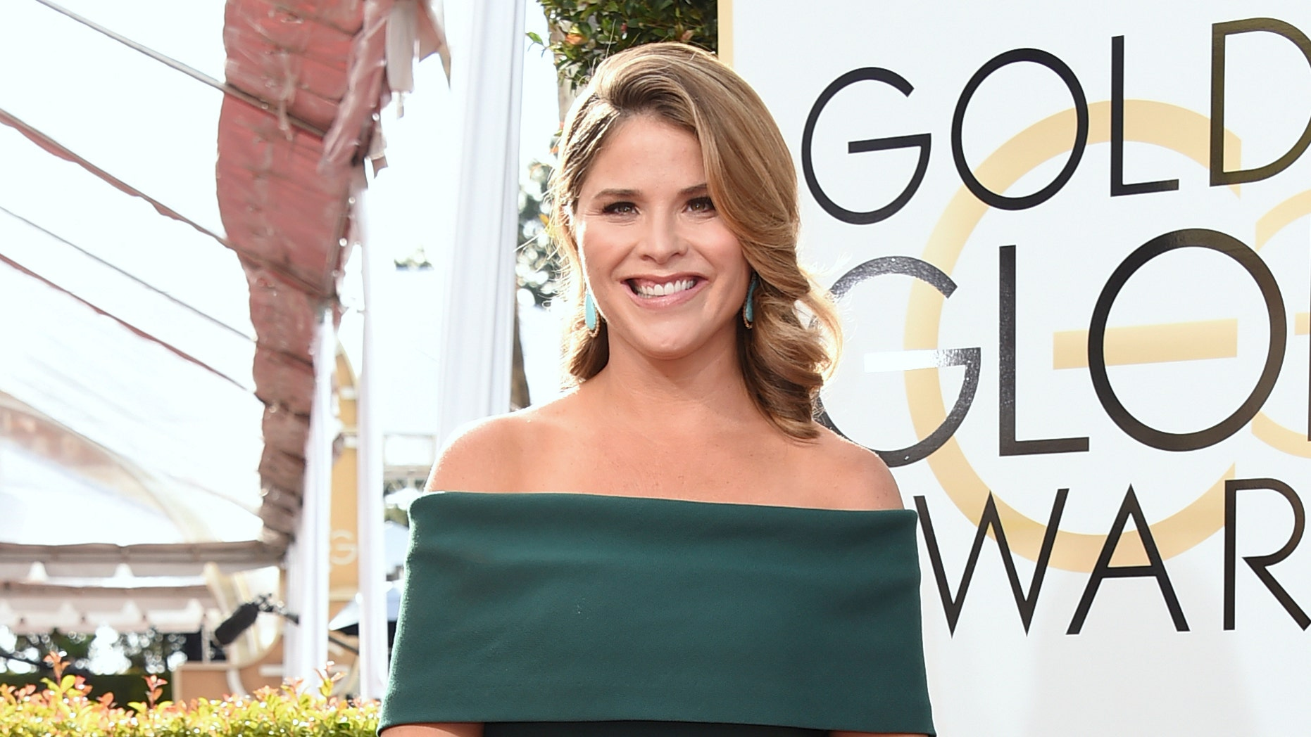 Jenna Bush Hager arrives at the 74th annual Golden Globe Awards at the Beverly Hilton Hotel in Beverly Hills, Calif.