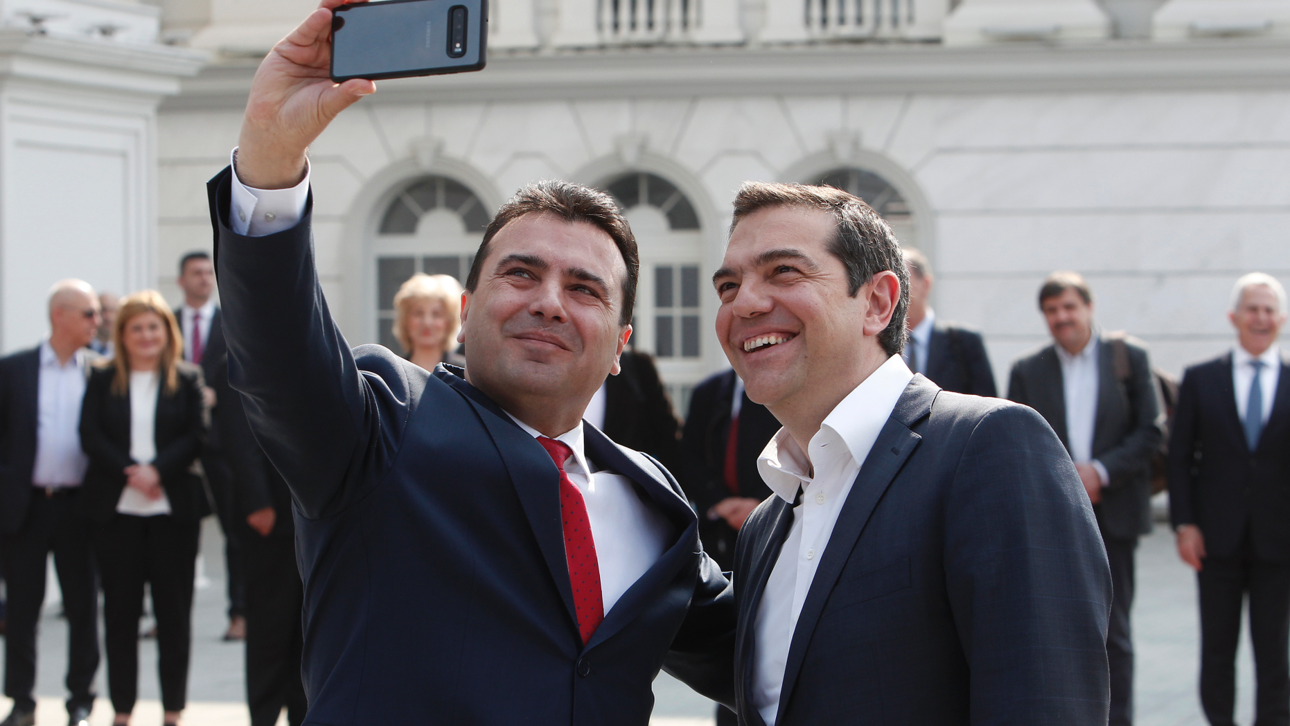 Greek PM Smiles For A Selfie After 30-Year-Long Name Dispute