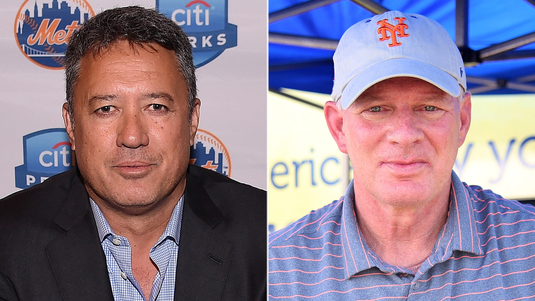 Claims in a new book have apparently left former New York Mets teammates Ron Darling, left, and Lenny Dykstra at odds.
