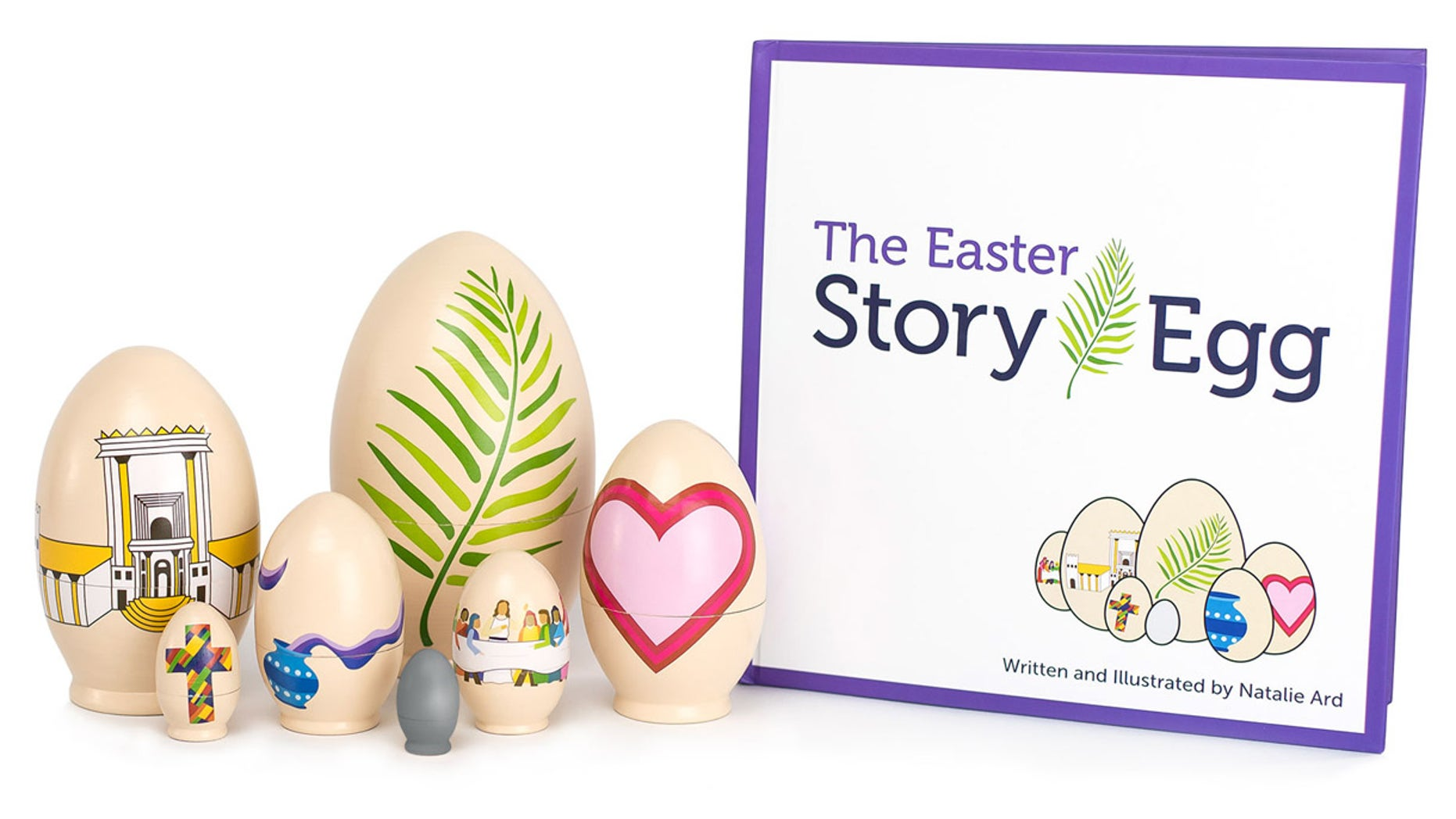 "The Easter Story Egg helps kids learn the ""true meaning"" of the holiday while having fun."