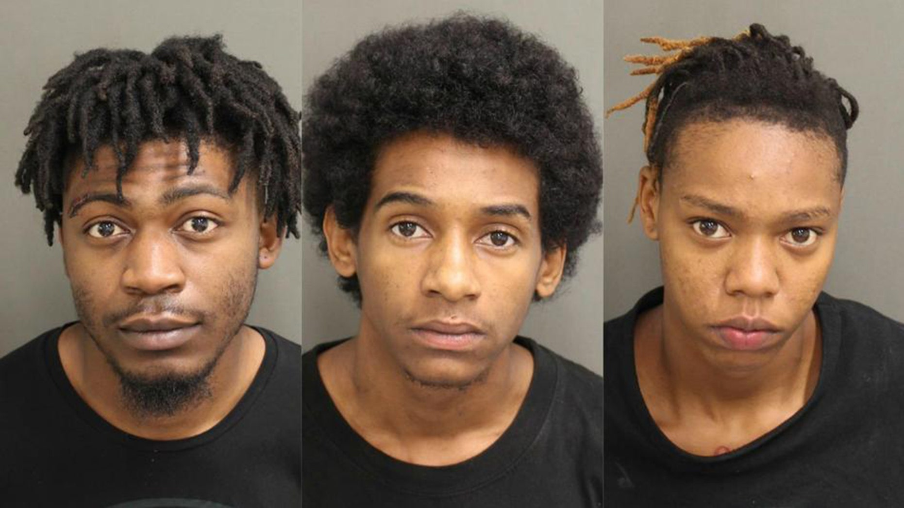Three of the four suspects arrested for stealing over $340,000 worth of jewelry at an Orange County mall in Florida on Thursday