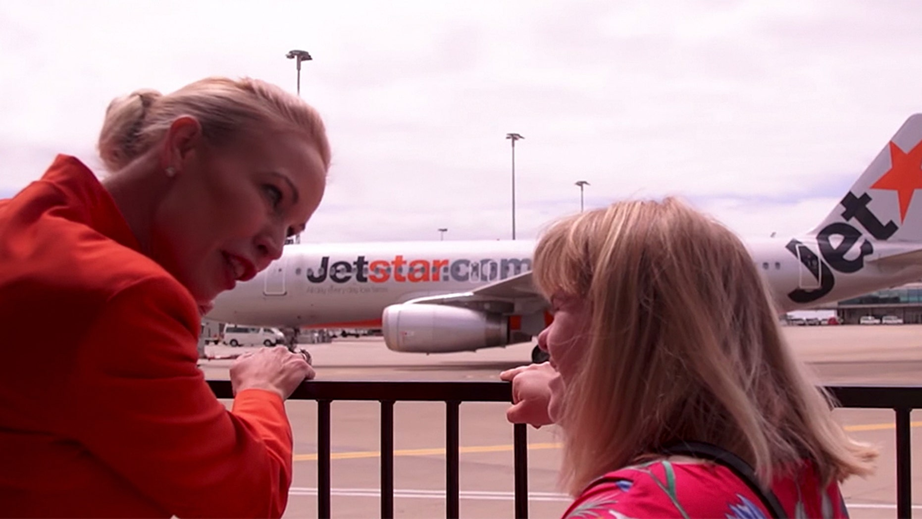 """My passion about being a flight attendant is making people happy,"" Georgia Knoll of Queensland said of the special experience."