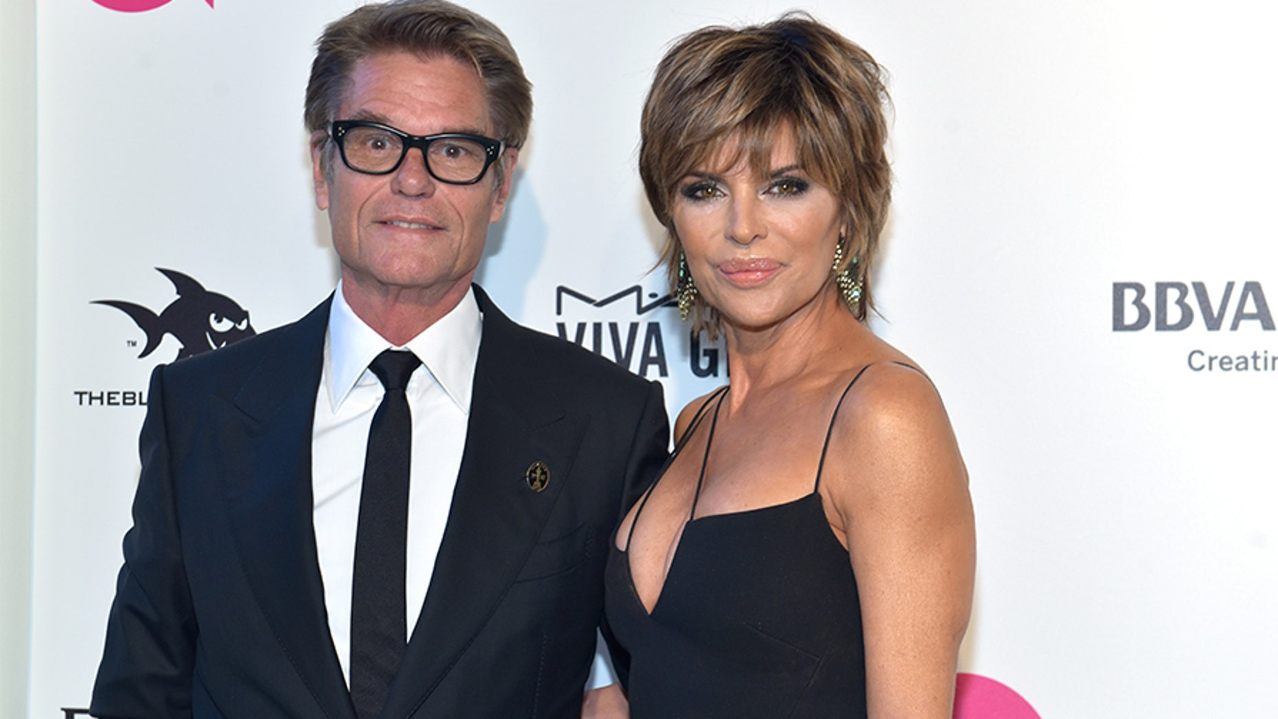 Harry Hamlin and Lisa Rinna attend the 26th annual Elton John AIDS Foundation's Academy Awards Viewing Party on March 4, 2018 in West Hollywood, Calif. — Photo by Rodin Eckenroth/Getty Images