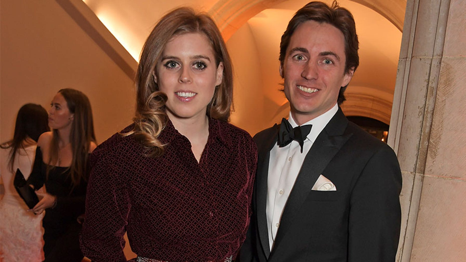 LONDON, ENGLAND - MARCH 12: Princess Beatrice of York and Edoardo Mapelli Mozzi attend The Portrait Gala 2019 hosted by Dr. Nicholas Cullinan and Edward Enninful to raise funds for the National Portrait Gallery's 'Inspiring People' project at the National Portrait Gallery on March 12, 2019 in London, England.