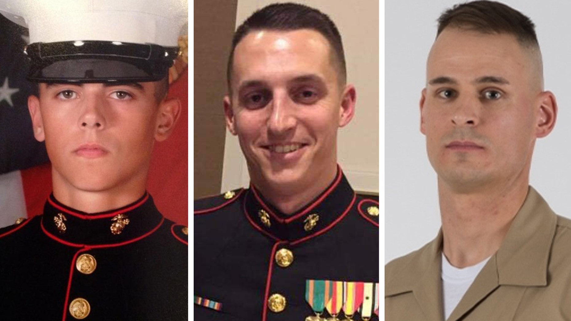 The attack killed (left to right) Cpl. Robert A. Hendriks, Sgt. Benjamin S. Hines and Staff Sgt. Christopher Slutman.