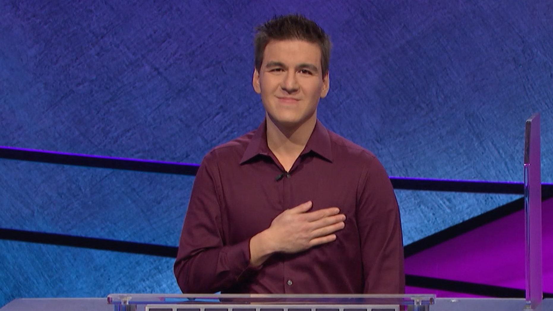 James Holzhauer competing on 'Jeopardy!'