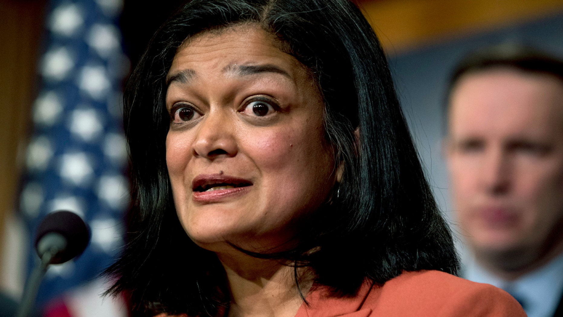 Congressional Progressive Caucus co-chairwoman Rep. Pramila Jayapal, D-Wash, offered an amendment to the spending measure. (AP Photo/Andrew Harnik, File)