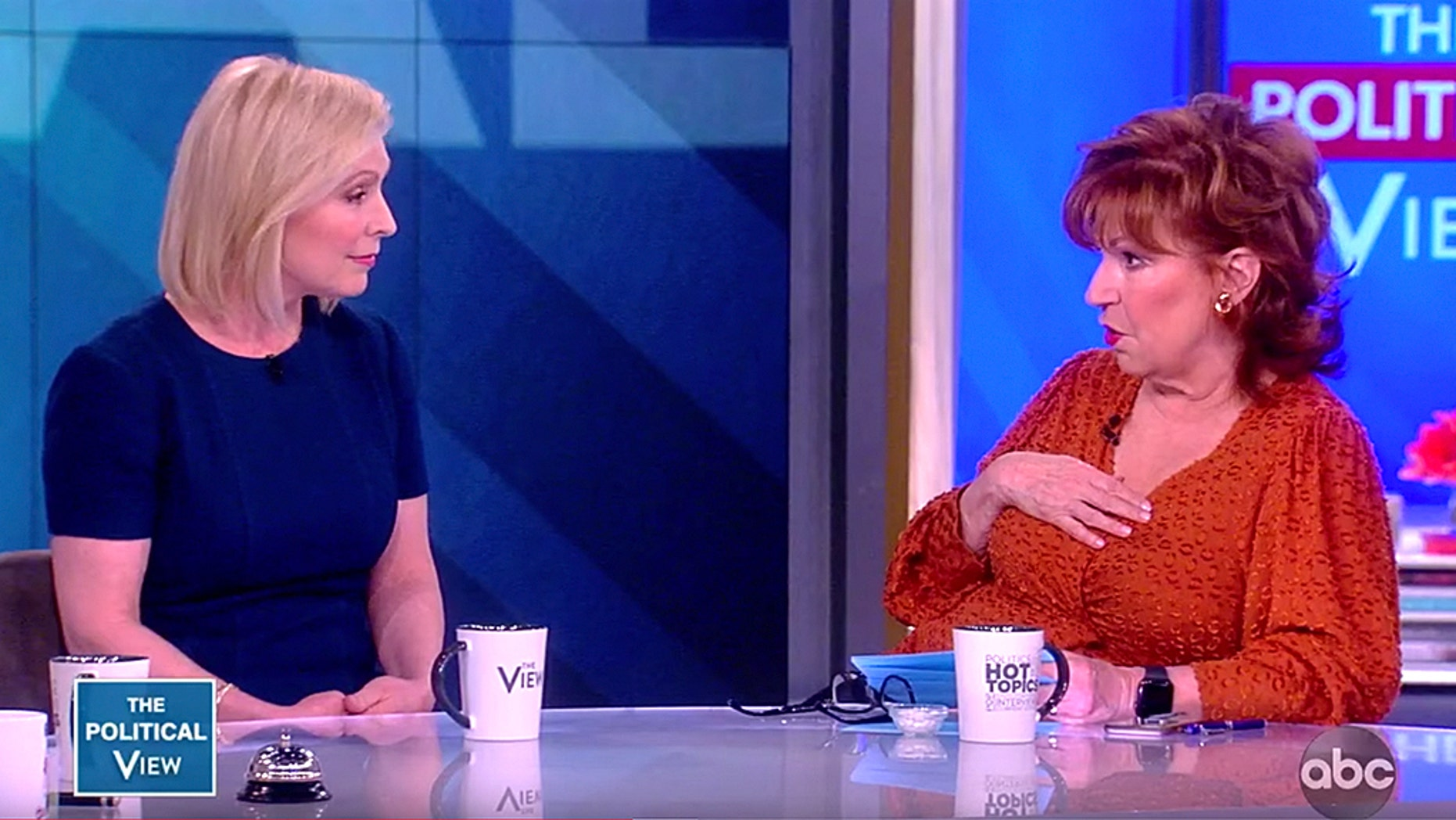 Westlake Legal Group Kirsten-Gillibrand-The-View-ABC Joy Behar tells Kirsten Gillibrand she doesn't believe Democrats are on even ground because they won't 'play dirty' fox-news/politics/2020-presidential-election fox-news/person/kirsten-gillibrand fox-news/person/joy-behar fox-news/entertainment/the-view fox-news/entertainment/media fox news fnc/entertainment fnc fae5a72f-7522-5126-b43e-8bfed11c7203 article Anna Hopkins