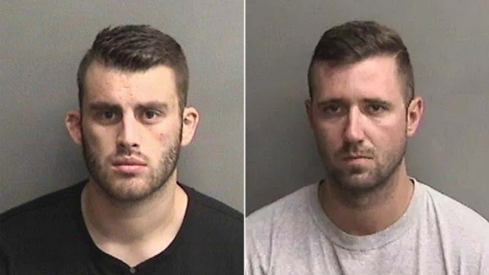 Erik McDermott and Justin Linn are accused of ordering inmates to fling feces and urine at each other.