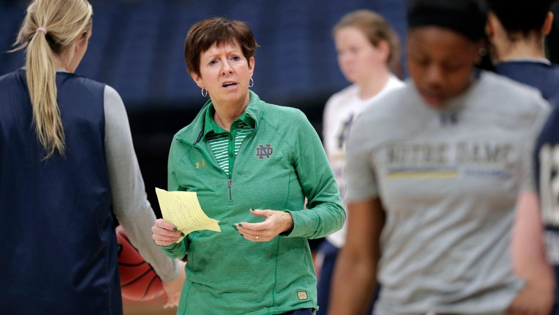 Notre Dame women's basketball team head coach Muffet McGraw explained why she was done hiring men and said there needed to be more opportunity for women.