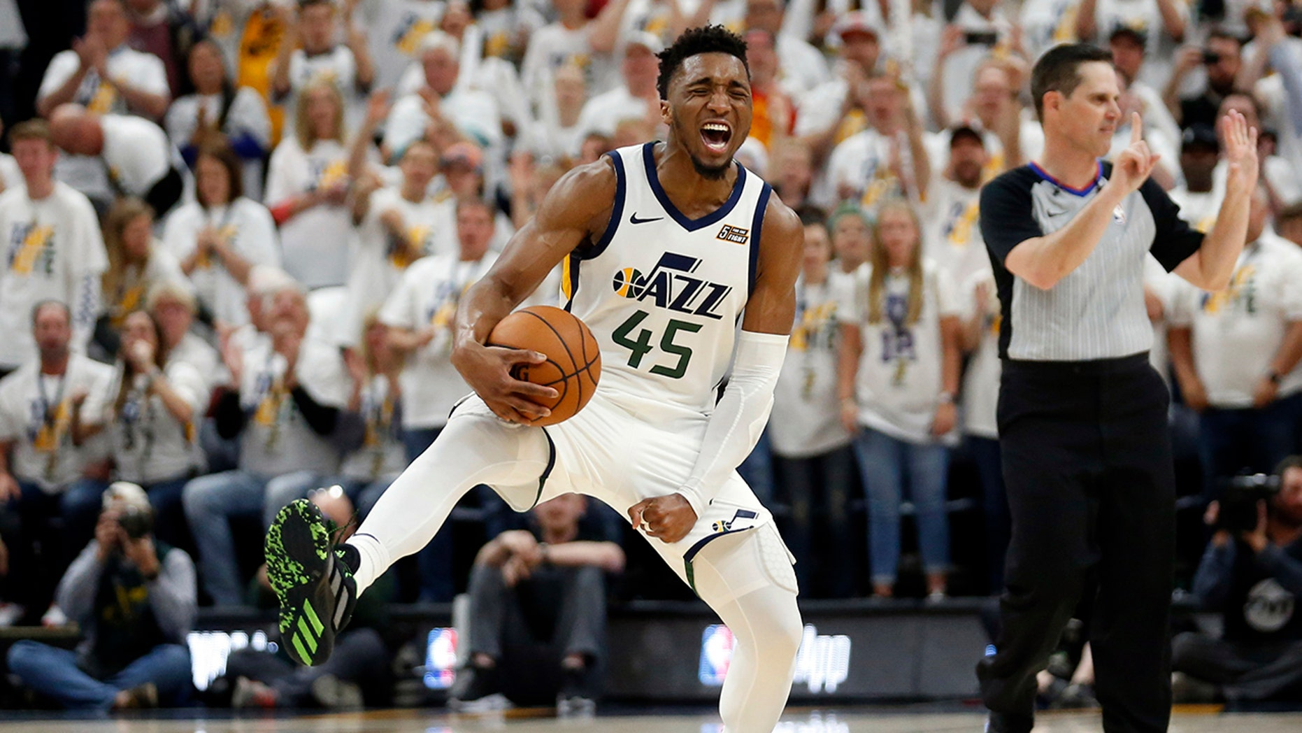 Westlake Legal Group NBA-Donovan-Mitchell Jazz stave off elimination with 107-91 win over Rockets fox-news/sports/nba/utah-jazz fox-news/sports/nba/houston-rockets fox-news/sports/nba-playoffs fox-news/sports/nba fnc/sports fnc Associated Press article 7e5179d2-7545-50fd-998d-a60aca483bb4