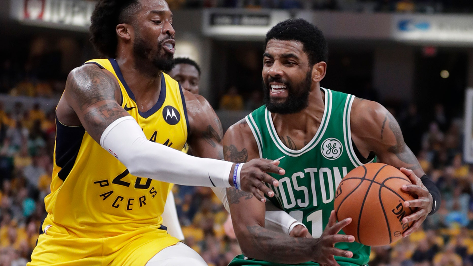 Westlake Legal Group NBA-Kyrie-Irving4 Celtics complete rare sweep by beating Pacers 110-106 fox-news/sports/nba/indiana-pacers fox-news/sports/nba/boston-celtics fox-news/sports/nba-playoffs fox-news/sports/nba fnc/sports fnc Associated Press article a8ff360a-8389-5adf-95cd-3bb9fbca2b47