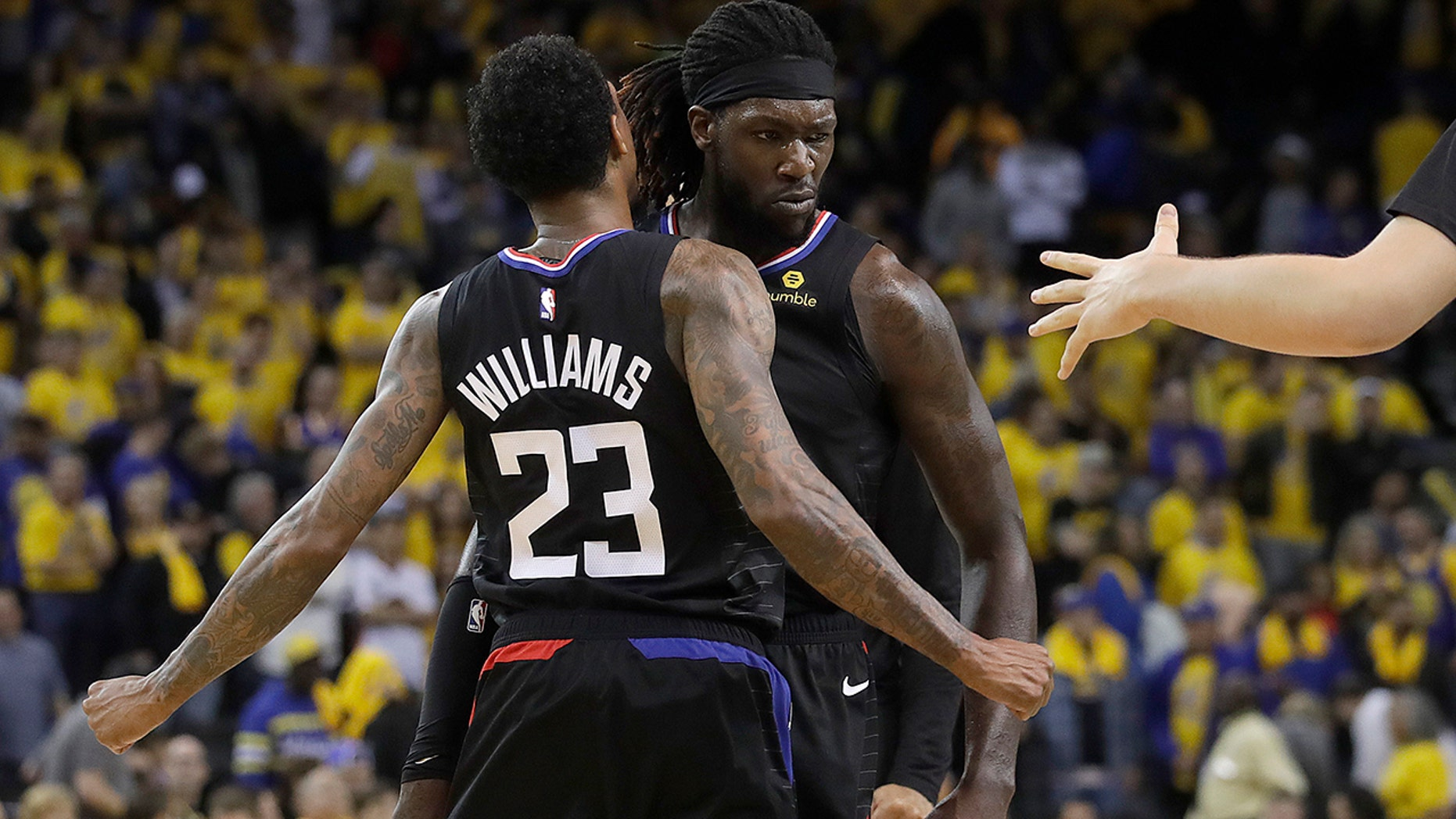 Kevin Durant and Patrick Beverley get ejected in Warriors' Game 1 win